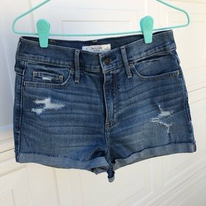 Abercrombie & Fitch High waisted denim shorts